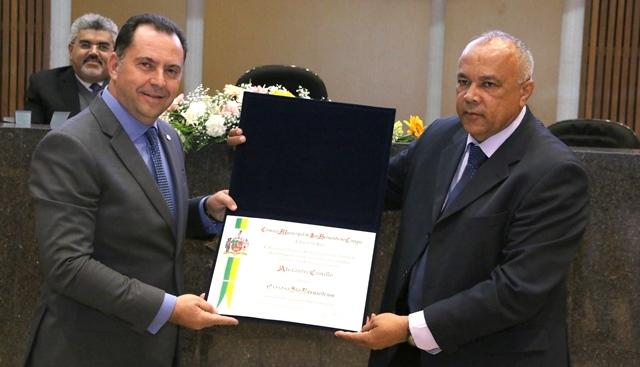 Alexandre Camillo, presidente do Sindicato dos Corretores de Seguros no Estado de São Paulo (SINCOR-SP), passou a ser um Cidadão São-Bernardense